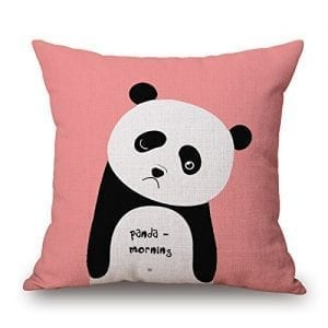 Fashionable-Cute-Panda-Bear-Pattern-Square-Decorative-Cotton-Linen-Throw-Pillow-Case-Cover-Cushion-Pillowslip-Home-Kids-Room-1818-Inch-Panda-Morning-0