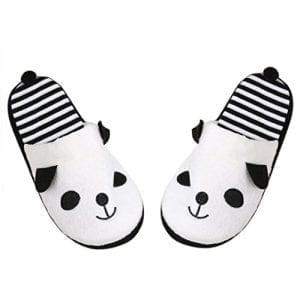 GBSELL-Winter-Warm-Women-Ladies-Lovely-Cartoon-Panda-Home-Floor-Soft-Stripe-Slipper-Female-Shoes-White-9-0