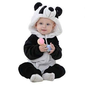 Idgirl-Unisex-baby-Winter-Flannel-Romper-Panda-Outfits-Suit-90CM-4-12-months-panda-0