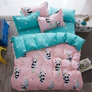 4pcs kids bedding sheet set duvet cover pillow cases beddingset twin full queen size panda design full small panda