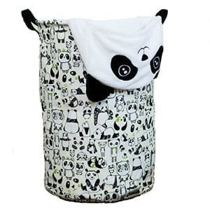 Laundry-Hamper-Basket-for-Kids-with-Panda-Prints-for-Boy-or-Girls-Room-and-Baby-Nursery-0