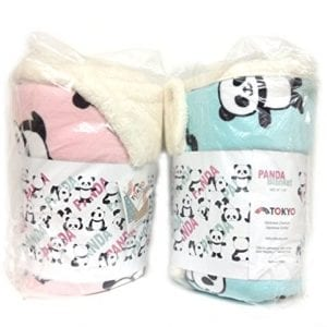 Panda-Soft-Blanket-2-Colors-Tokyo-Japanese-Outlet-Exclusive-Pink-0