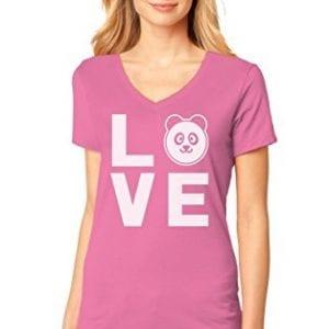16f0c19fad6a2 Panda Ladies T Shirts - Panda Things