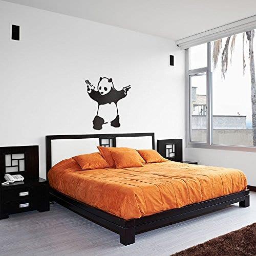 Banksy Panda Bear Vinyl Wall Art Decal - Panda Things