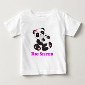 Big Sister Pandas Hugging Baby T Shirt