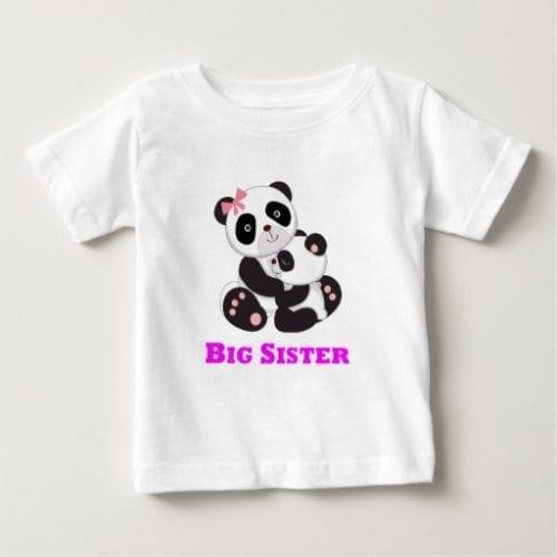 Big Sister Pandas Hugging Baby T Shirt