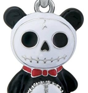 Furry-Bones-Skull-Black-Panda-Bear-Pandie-Pendant-Jewelry-Accessory-0