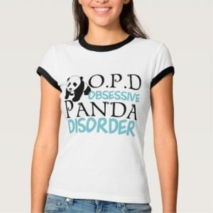 Obsessive Panda Disorder Ladies T Shirt