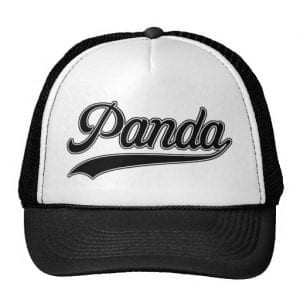 Retro Writing Panda Trucker Hat
