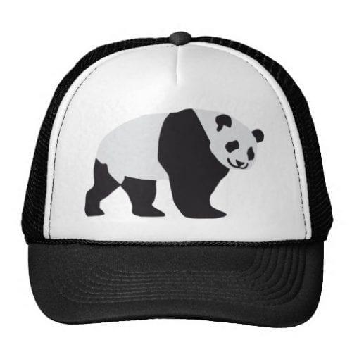 Walking Adult Panda Trucker Hat