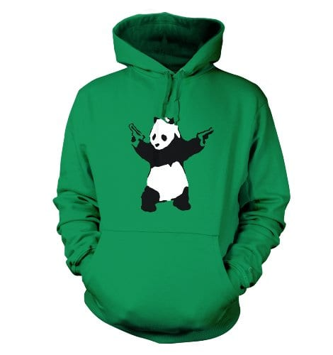 Banksy-Panda-With-Guns-Hoodie-Kelly-Green-X-Large-48-Chest-0