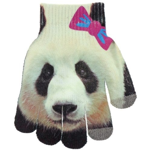 Capelli-New-York-Paper-Printed-Panda-Bear-Touch-Glove-Black-Combo-4-6X-0