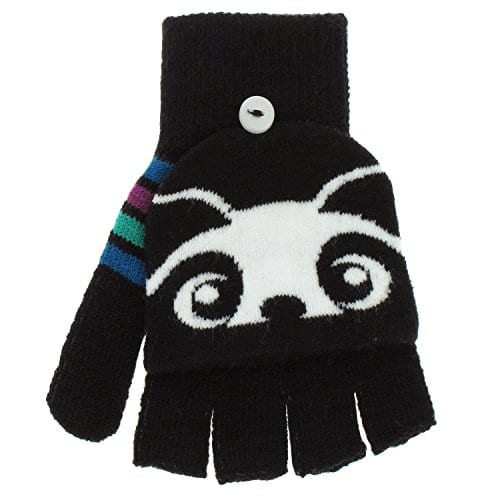 Capelli-New-York-Peeking-Panda-Flip-Top-Mitten-Fingerless-Glove-Black-Combo-One-Size-0
