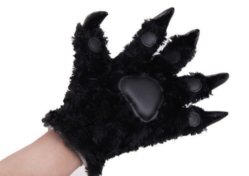 Hongyu-Fashion-Warm-Adorable-Unisex-Plush-Fancy-Party-Kigurumi-Pet-Panda-Bear-Cat-Cartoon-Animal-Paw-Claw-Hand-Gloves-Women-Men-Black-0
