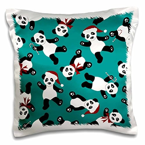 Janna-Salak-Designs-Holiday-Cheer-Collection-Cute-Christmas-Panda-Print-Blue-16x16-inch-Pillow-Case-pc397371-0