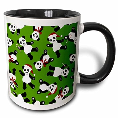 Janna-Salak-Designs-Holiday-Cheer-Collection-Cute-Christmas-Panda-Print-Green-11oz-Two-Tone-Black-Mug-mug397384-0