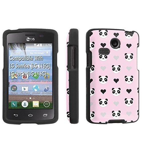 LG-Sunrise-LG-L15G-LG-LuckyLG-L16C-Case-SkinGuardz-Black-Form-Fit-Fancy-Protection-Case-Panda-Pink-Print-Design-0