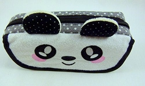 Cute-Panda-Face-Large-Pencil-CasePouch-with-Flap-Compartments-0