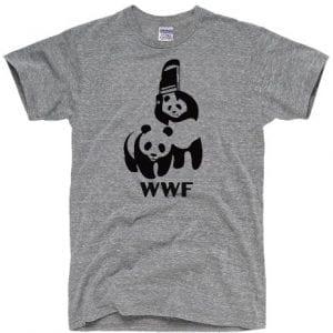 DirtyRagz-Mens-WWF-Funny-Panda-Bear-Wrestling-T-Shirt-XL-Heather-Grey-0