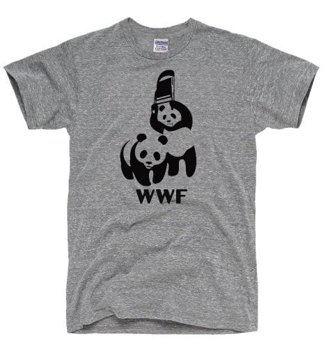 DirtyRagz-Mens-WWF-Funny-Panda-Bear-Wrestling-T-Shirt-XL-Heather-Grey-0