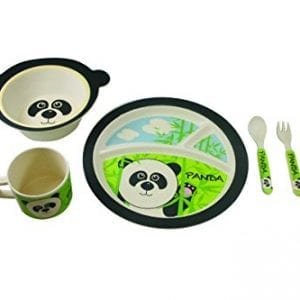 EcoBamboo-Ware-Kids-Bamboo-Dinnerware-Set-Parker-Panda-5-Count-0