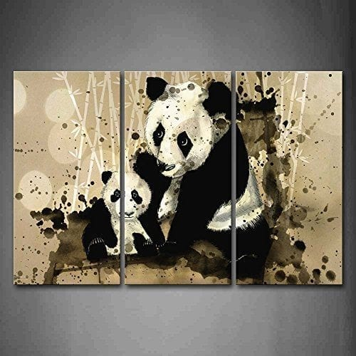 First-Wall-Art-Artistic-Mother-Panda-With-Cub-Bamboo-Wall-Art-Painting-The-Picture-Print-On-Canvas-Animal-Pictures-For-Home-Decor-Decoration-Gift-0