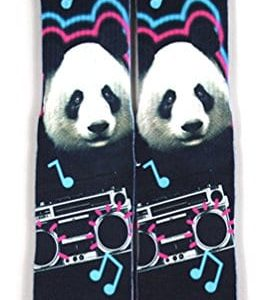 Kalily-Custom-Full-Print-Cute-Panda-Enjoys-Music-Socks-with-Design-0