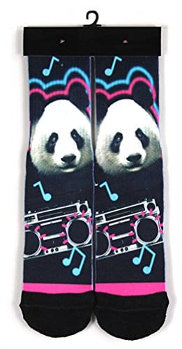 Kalily-Custom-Full-Print-Cute-Panda-Enjoys-Music-Socks-with-Design-0