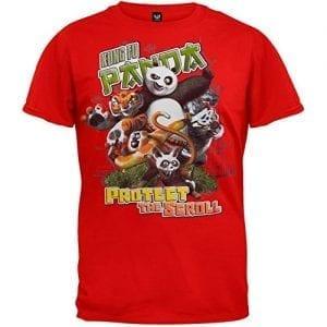 Kung-fu-Panda-Mens-Protect-T-shirt-Large-Red-0