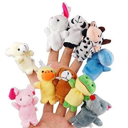 LEORX-10pcs-Different-Cartoon-Animal-Finger-Puppets-Soft-Velvet-Dolls-Props-Toys-0
