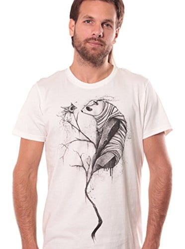 Men-Fashion-Panda-T-shirt-with-Graphic-Design-Urban-Apparel-White-Size-X-Large-0