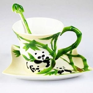 Moyishi-Hand-Crafted-Porcelain-Tea-Set-Lovely-Panda-Bamboo-Coffee-Cup-Set-with-Saucer-and-Spoon-0