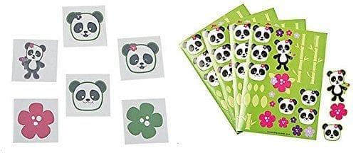 Panda-Party-Tattoos-72-Pcs-Sticker-Scenes-1-Dozen-0