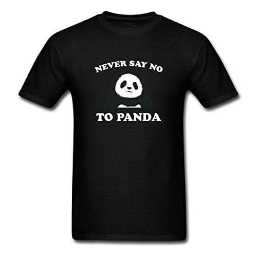 Spreadshirt-Mens-Never-Say-No-To-Panda-T-Shirt-black-XL-0