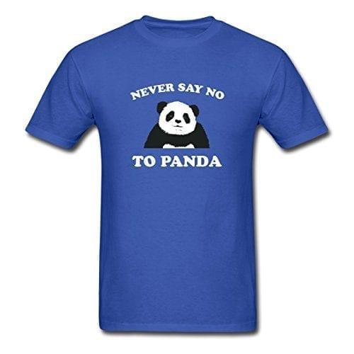 Spreadshirt-Mens-Never-Say-No-To-Panda-T-Shirt-royal-blue-M-0