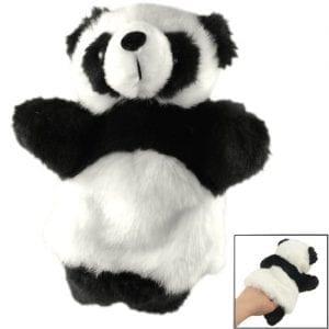 TOOGOOR-Kids-Recreational-Toy-Black-White-Faux-Fur-Panda-Hand-Puppet-0