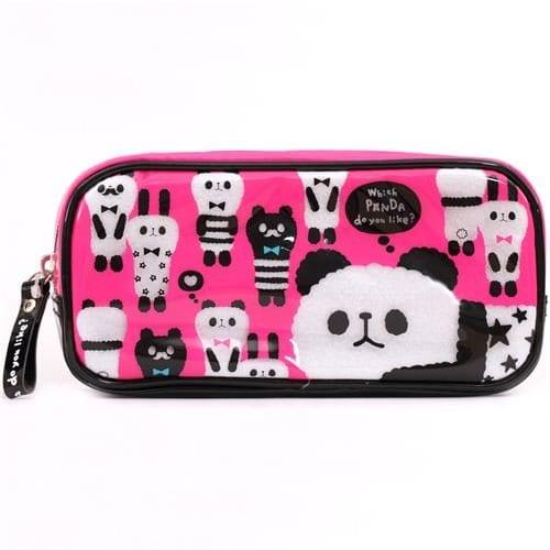 cute-pink-panda-alpaca-plastic-pencil-case-from-Japan-0