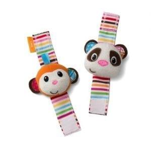 Infantino-Wrist-Rattles-Monkey-and-Panda-0