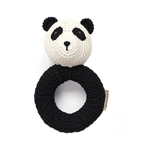 Organic-Newborn-Toys-Panda-Baby-Rattle-0