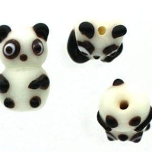 Panda-Bear-Approx-15mmx25mm-10-Lampwork-Glass-Beads-0
