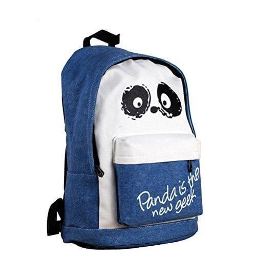 Demarkt-Cute-Cartoon-Panda-School-BagLaptop-BackpackDaypack-Dark-Blue-0