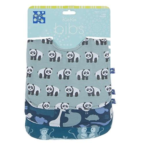 KicKee-Pants-Bib-Set-Jade-PandaPeacock-Multi-Animal-and-Oasis-Monkey-0