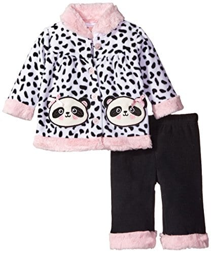 Little-Lass-Baby-Girls-Newborn-2-Piece-Polar-Fleece-Set-Panda-WhiteBlackPink-6-9-Months-0