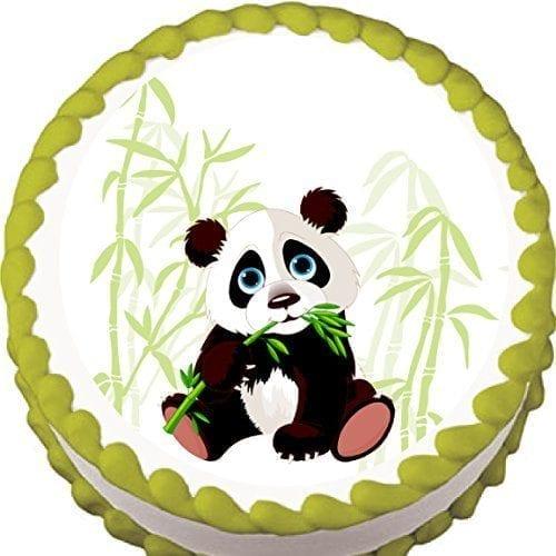 Panda-and-Bamboo-Birthday-Edible-Cake-Topper-0