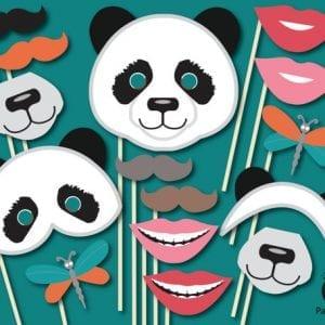 printable panda photo props