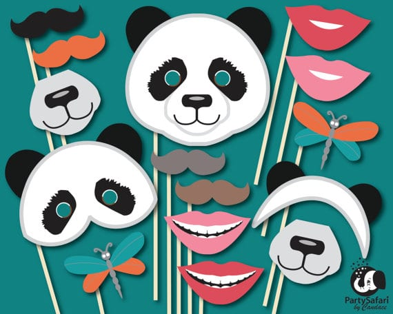 picture about Photo Props Printable known as Printable Panda Photograph Props