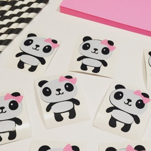 panda DIY vinyl stickers baby shower decorations