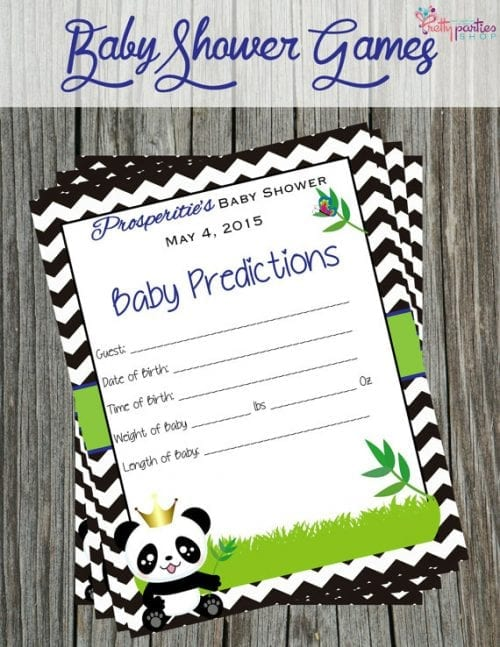 panda baby shower games printouts
