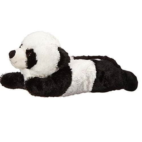 35cc33d031f3 Adult M Size Unisex Black White Panda Animal Plush Fuzzy Slippers ...