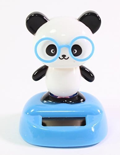 Dancing Panda With Glasses Solar Powered Toy Office Desk Home Decor Birthday Gift USA